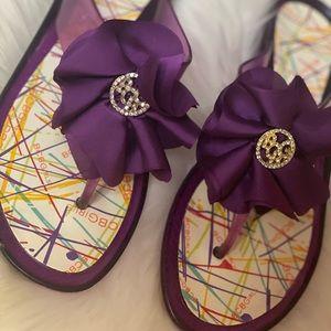 BCBG Purple Jelly Sandals💜💜🦄🦄